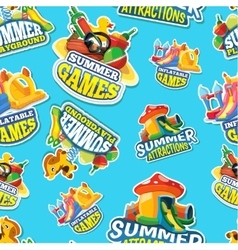 Seamless pattern of summer games on vector