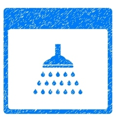 Shower calendar page grainy texture icon vector
