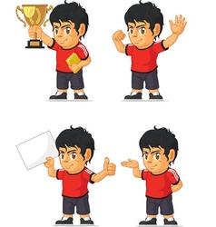 Soccer boy customizable mascot 2 vector