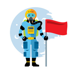 Space astronaut flat style colorful vector
