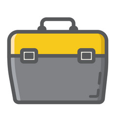 toolbox filled outline icon build and repair vector image