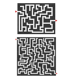 Two mazes vector