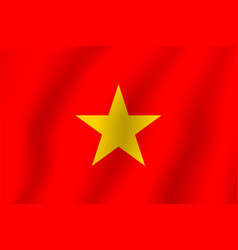 Vietnamese flag realistic flag national symbol vector