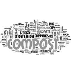 who should compost text word cloud concept vector image vector image