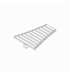 Xylophone icon isometric 3d style vector image