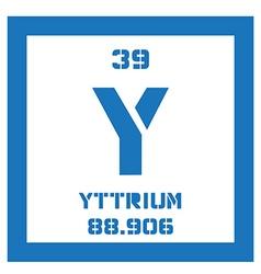 Yttrium chemical element vector image vector image