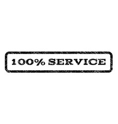 100 percent service watermark stamp vector
