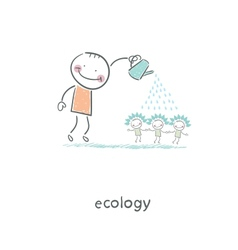 Eco people vector