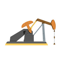 The oil industry oil pump vector
