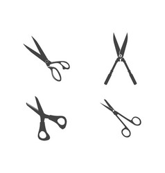 Scissors logo icon template vector
