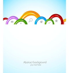 Colorful web template vector