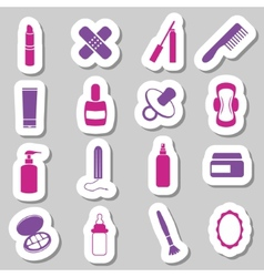 Drugstore stickers vector