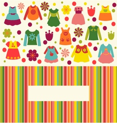 Girl fashion clothing background vector