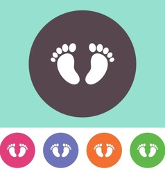 Baby footprint icon vector