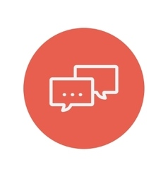 Speech bubble thin line icon vector