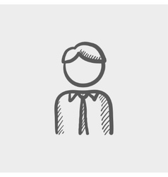 Male sketch icon vector