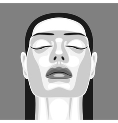 Retro portrait of vampire woman in noir style vector
