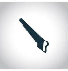 Hacksaw black icon vector