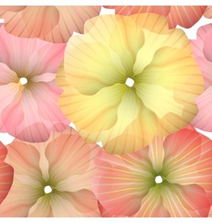 Seamless primula flowers pattern vector