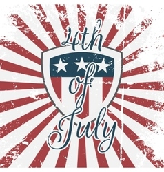 Independence day 4th of july holiday shield vector