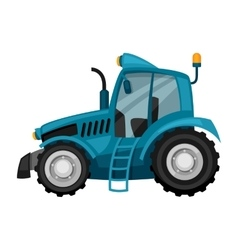 Tractor on white background abstract vector