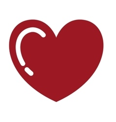 Heart red drawing isolated icon design vector
