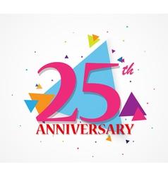 Happy anniversary celebration with triangle shape vector