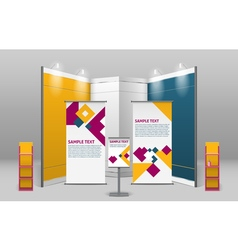 Advertising exhibition stand design vector