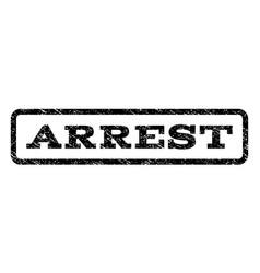 Arrest watermark stamp vector