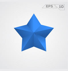 Blue star icon vector