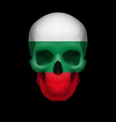 Bulgarian flag skull vector