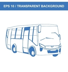 Bus picture of old transportation hand vector