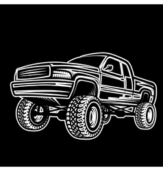 car truck 4x4 pickup off-road vector image vector image