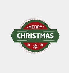 Christmas badges and labels vector image
