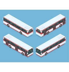 City bus transport vector