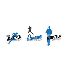 City marathon logo vector