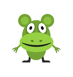 cute green mouse vector image vector image