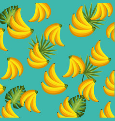 Delicious and exotic bananas fruits background vector