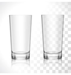 Empty glasses set vector image