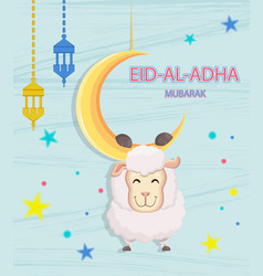 Festival of sacrifice eid-ul-adha vector