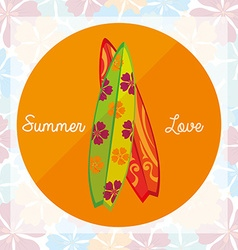 i love summer holidays vector image