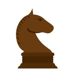 knight chess piece icon image vector image