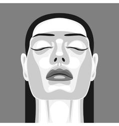 Retro portrait of vampire woman in noir style vector