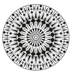 Round ethnic ornament mandala can be used for vector
