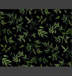 seamless pattern vine leaf different branches vector image vector image