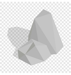 Stones isometric icon vector