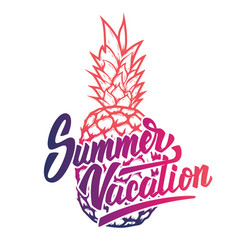 Summer vacation hand drawn lettering phrase on vector