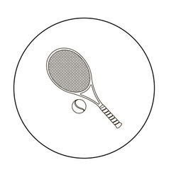 tennis icon outline single sport icon from the vector image