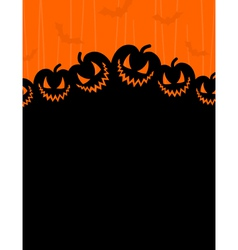 Terrible pumpkins on an orange background a vector