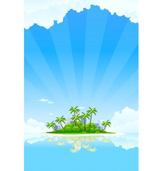 tropical business landscape vector image
